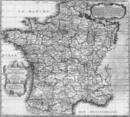 Cassini map of France