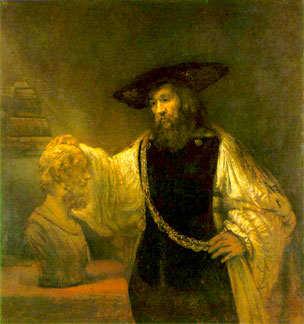 Aristotle Contemplates the Bust of Homer (painting by Rembrandt)
