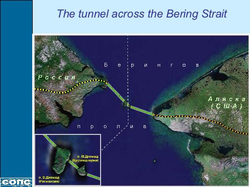 Bering Strait in World Land-Bridge