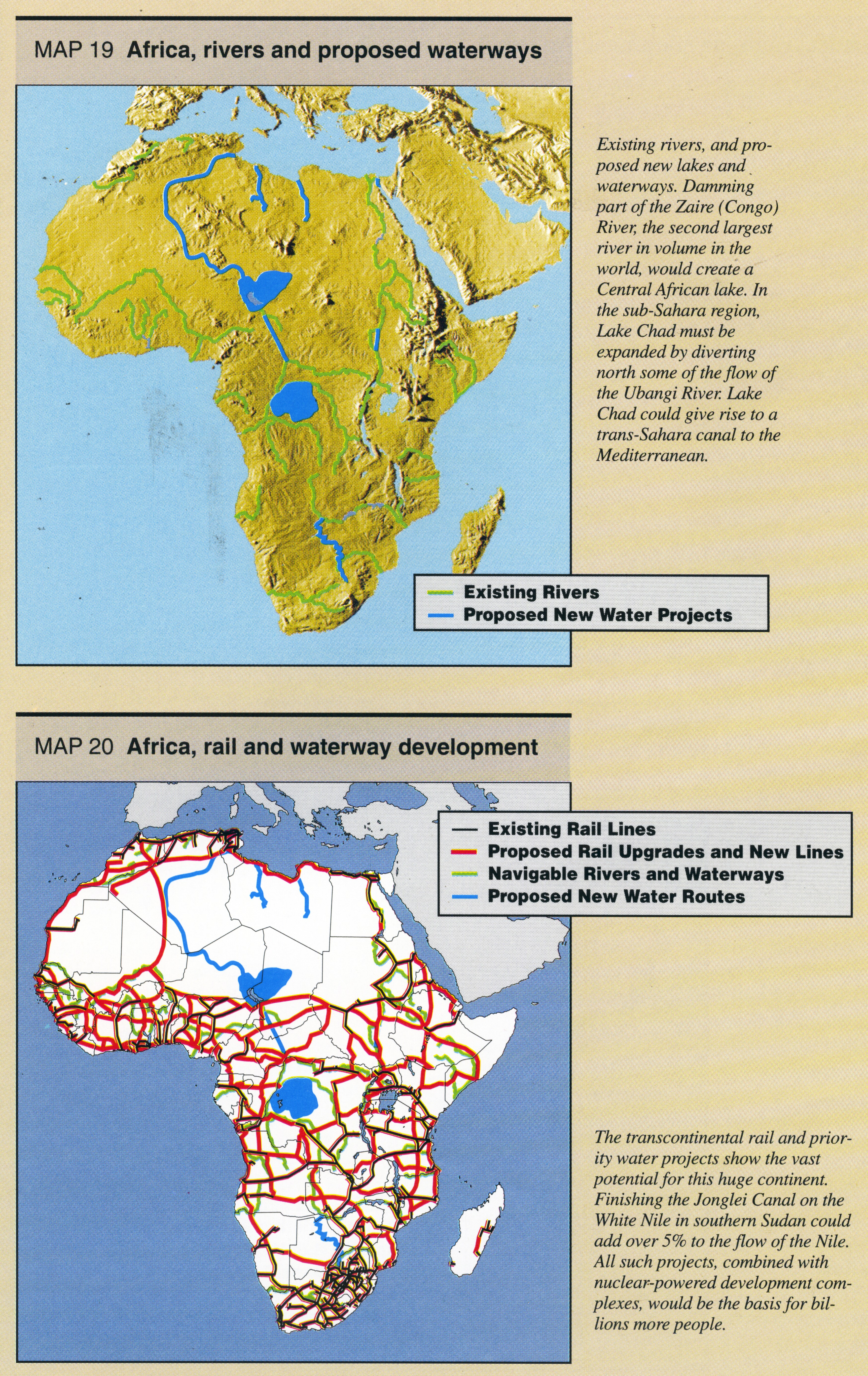 Map Of Africa Zaire River.Maps Of Great Infrastructure Projects Page 1 Schiller Institute Inc