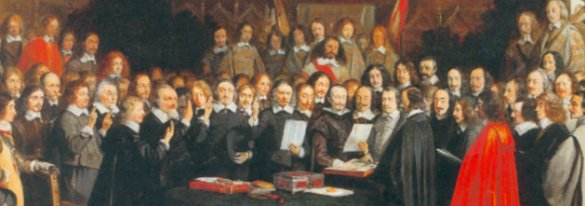 painting of the signing of the Treaty of Westphalia