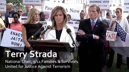 Terry Strada, National Chair, 9/11 Families and Survivors United for Justice Against Terrorism
